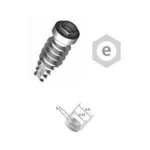 Implante Conexión Externa Hexagonal – Plataforma 3.4 – Cpo. 2.5/3.3