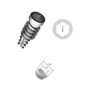 Implante Conexión Interna Hexagonal – Plataforma 5.0 – Cpo. 4.8 mm – SURHI